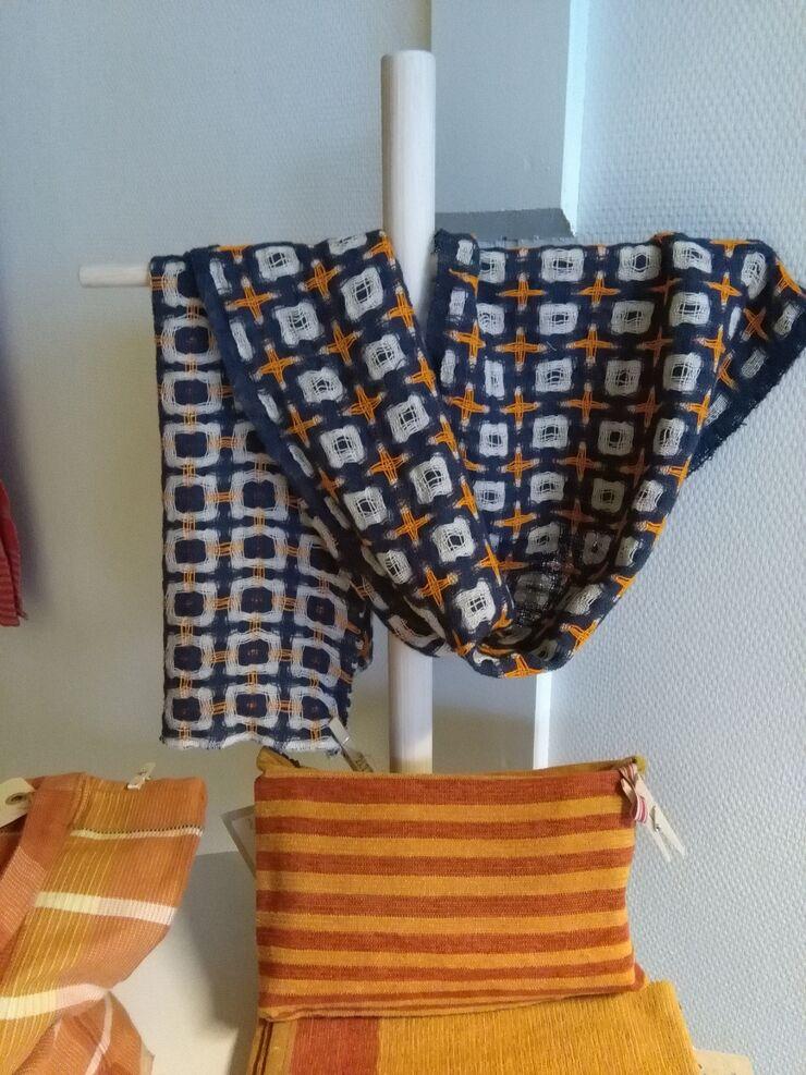 Vævede tekstiler fra udstillingen