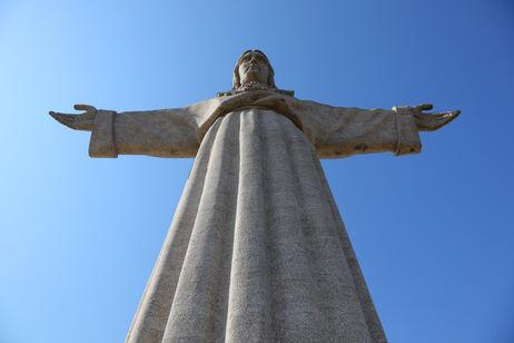 Statue af Jesus i Lissabon, Portugal