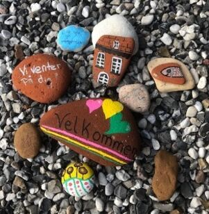 Vær kreativ med sten