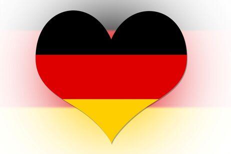 Tysk flag/hjerte
