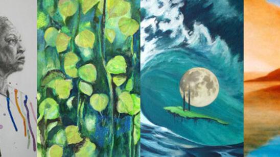 Malerier fra udstillingen