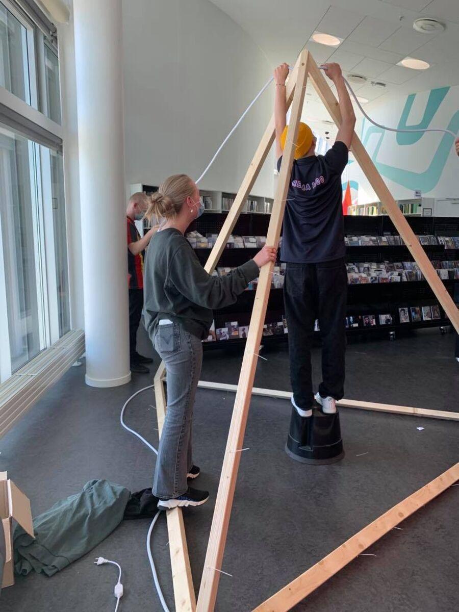 Elever fra Vesterdal Efterskole