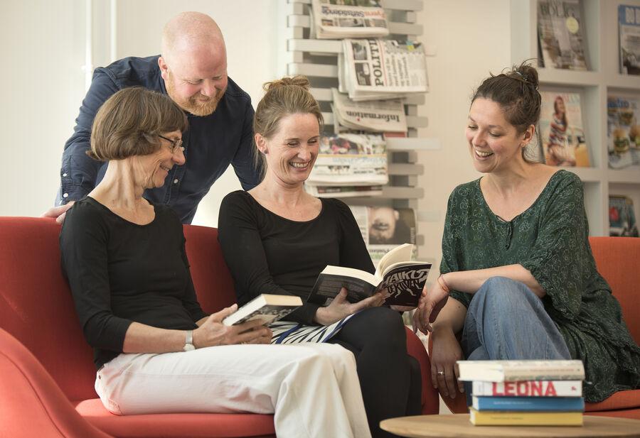 De fire 'booktalkere'
