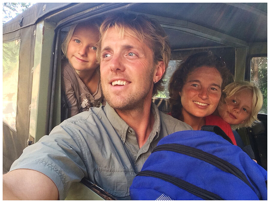 Lars Simonsen med familie
