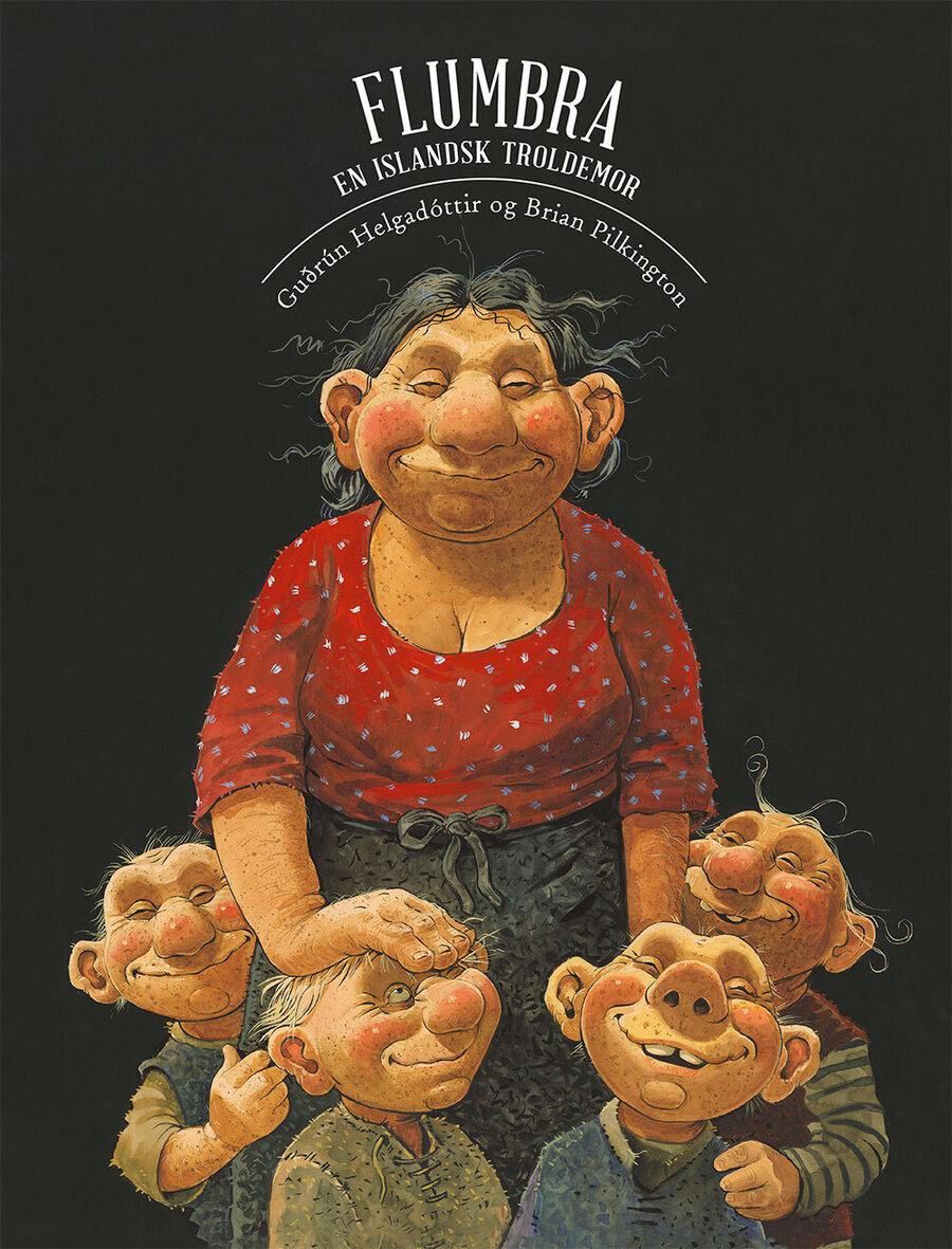 """Forside til bogen """"Flumbra - en islandsk troldemor"""""""