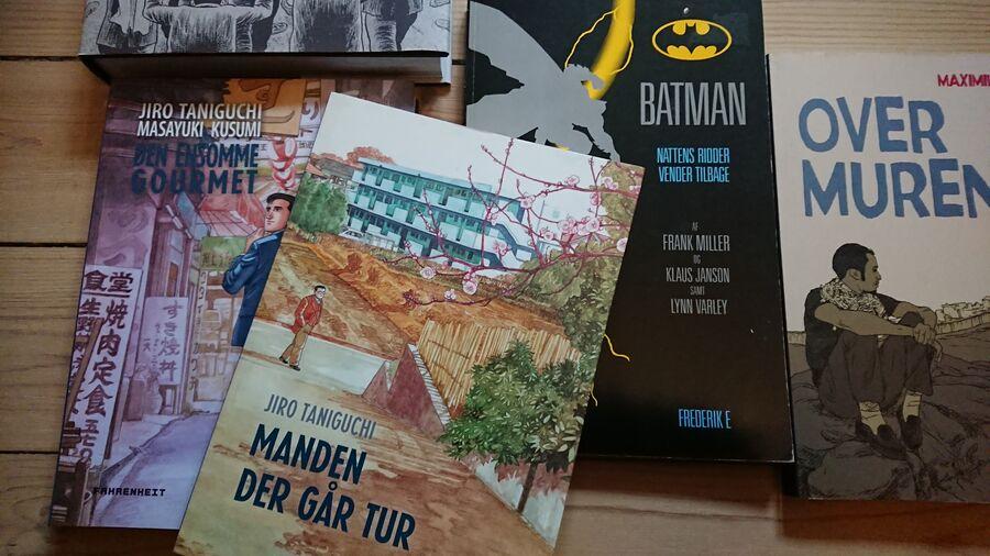 Forskellige Graphic Novels