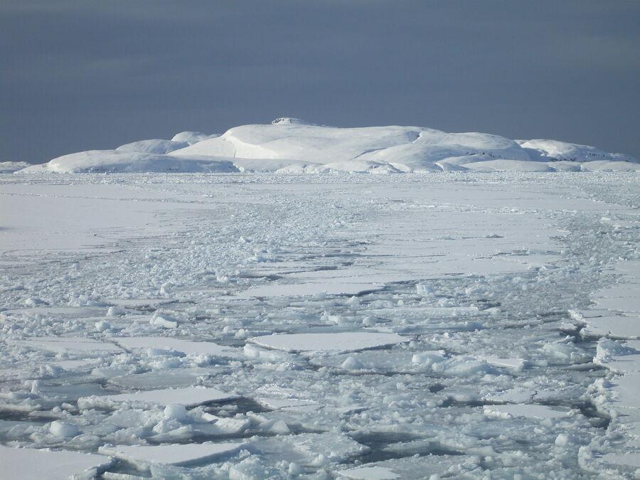 Is og sne på Grønland