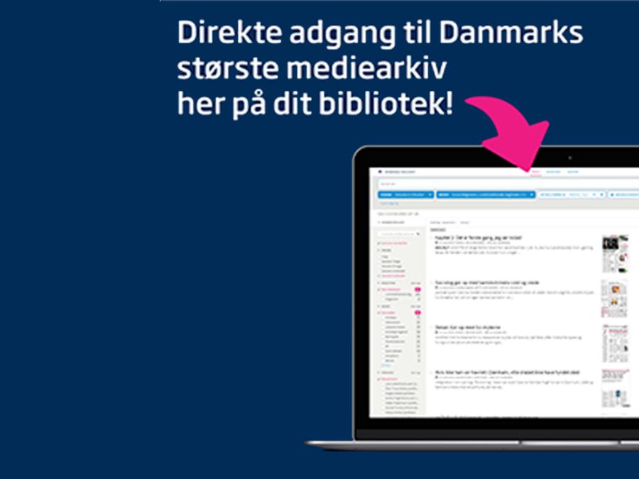 Avisdatabase med adgang fra biblioteket