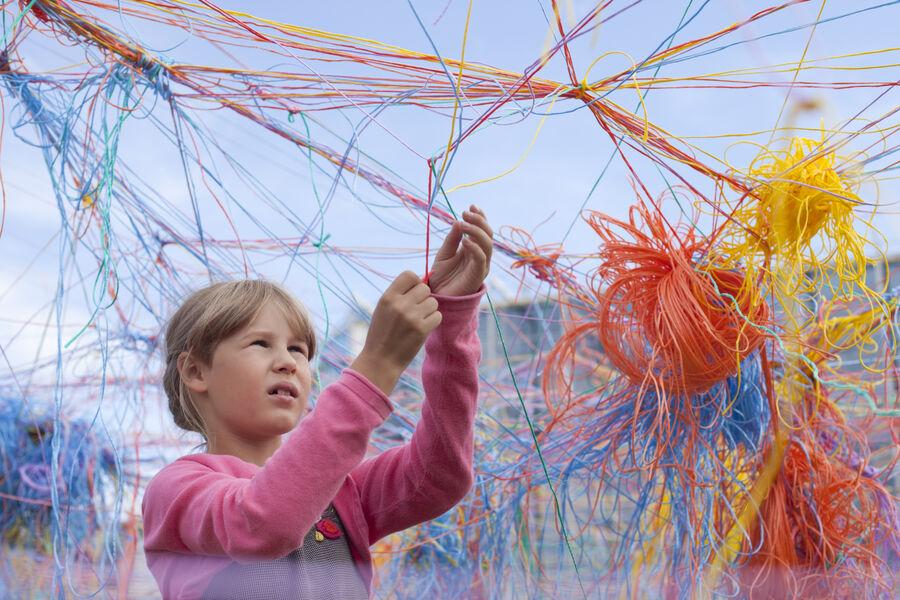 Barn der laver 'snorespor'