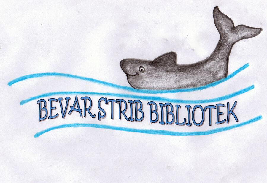 """Logo for foreningen """"Bevar Strib Bibliotek"""""""